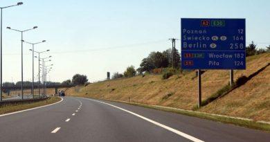 utrudnienia na odcinku autostrady