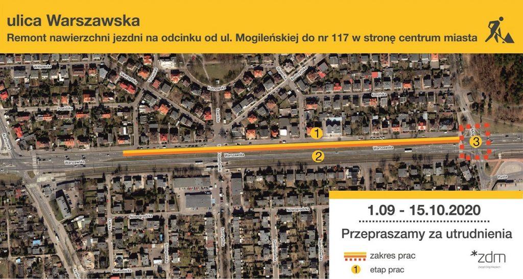 remont na Warszawskiej zacznie września