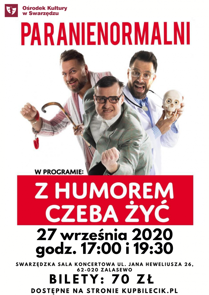 kabaret paranienormalni wystąpi w Zalasewie