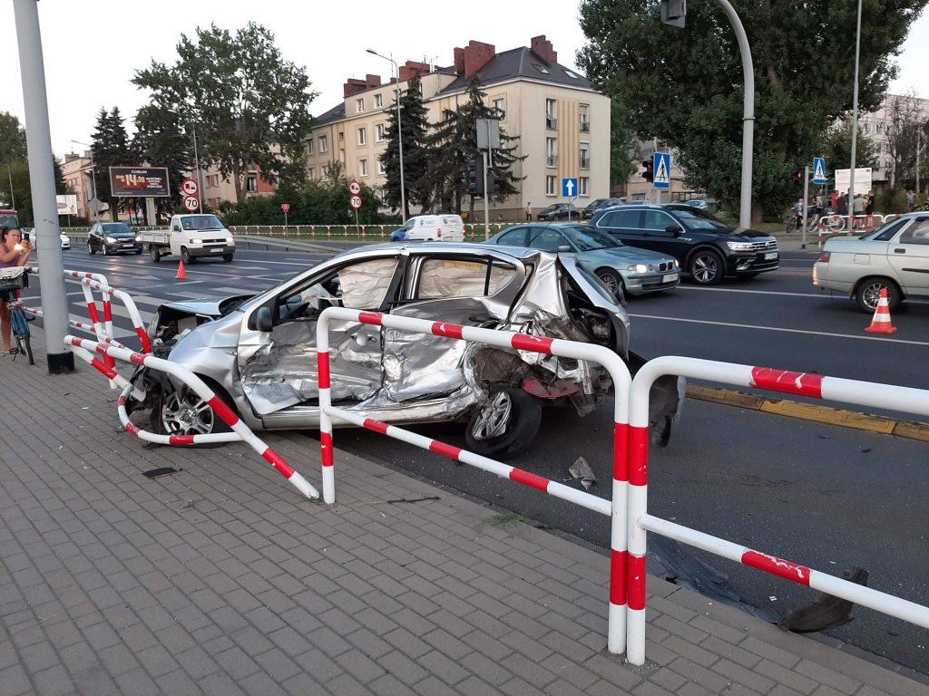 wypadek na ulicy poznańskiej w swarzędzu