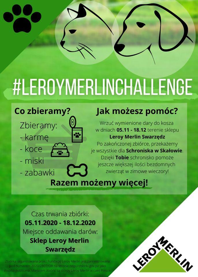 Leroy Merlin zbiórka dla zwierząt
