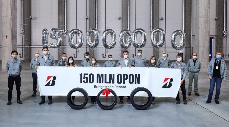 Poznański zakład Bridgestone wyprodukował 150 milionów opon