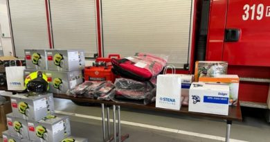 Stena Recycling pomaga strażakom