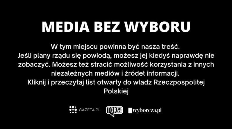 protest mediów bez wyboru