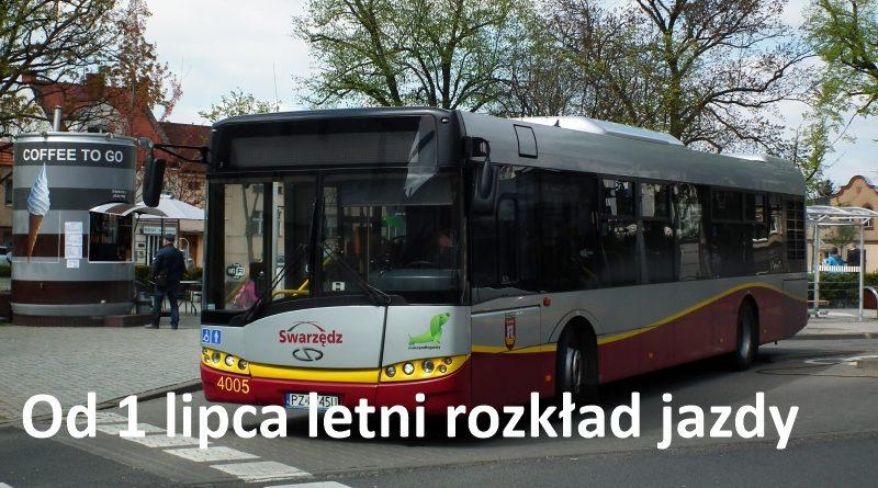 Letni rozkład jazdy autobusów