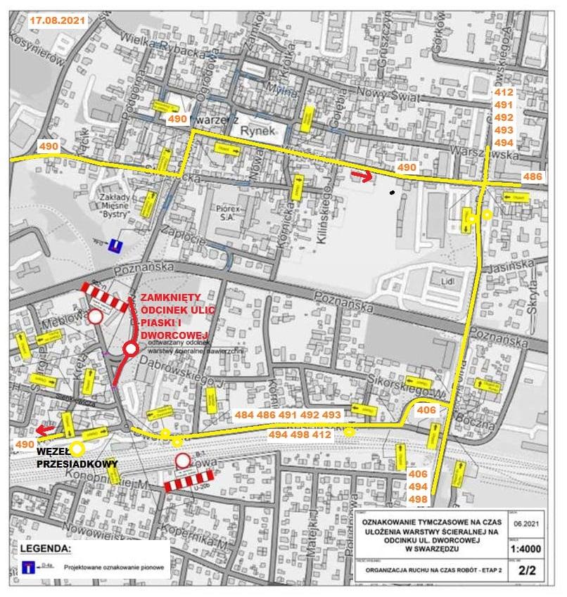 Ulica Dworcowa zamknięta dla ruchu